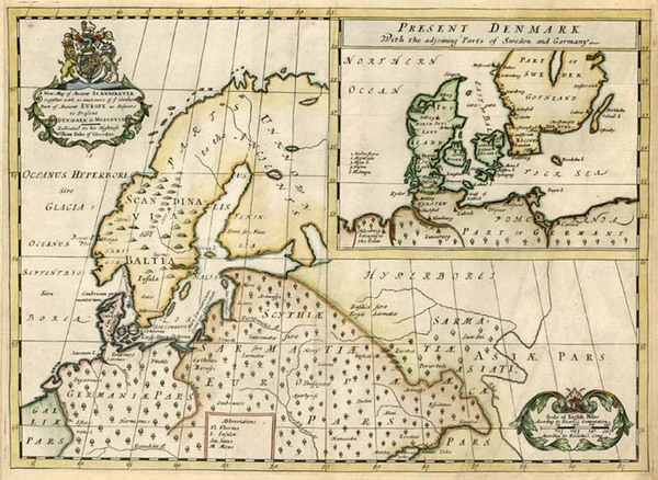 87-Europe, Baltic Countries and Scandinavia Map By Edward Wells