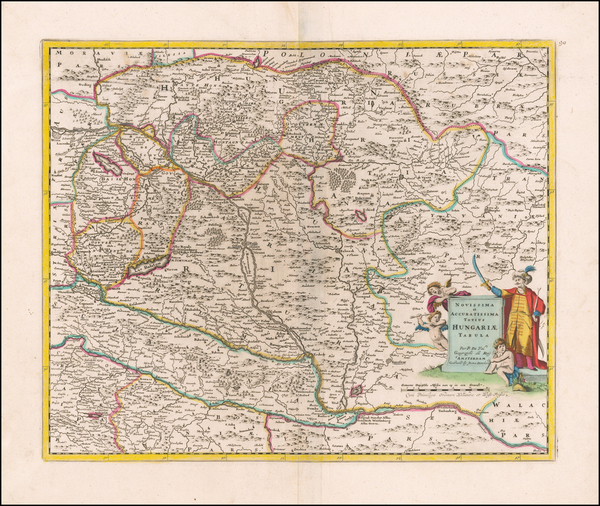 Hungary Map By Justus Danckerts