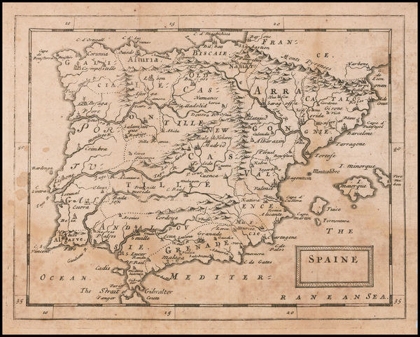 Spain Map By Sir Jonas Moore