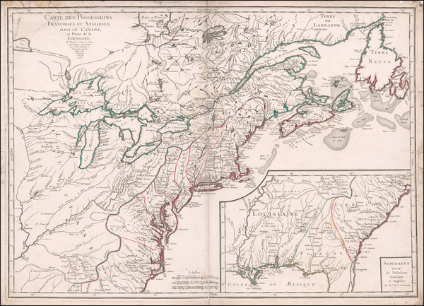 12-United States, New England, Mid-Atlantic, Southeast, Midwest and Canada Map By Pierre-Nicolas B