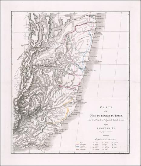 9-Brazil Map By Prinz Maximilian Alexander Philipp zu Wied-Neuwied