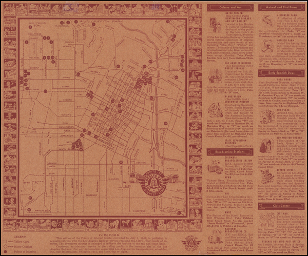 49-Los Angeles Map By W. R. Main