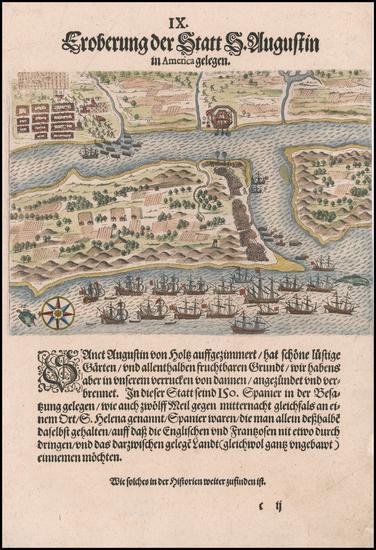 47-Florida Map By Theodor De Bry