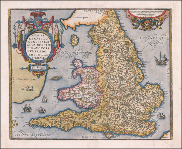 42-England Map By Abraham Ortelius