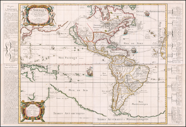 13-Western Hemisphere, Pacific, California as an Island and America Map By Pierre Du Val
