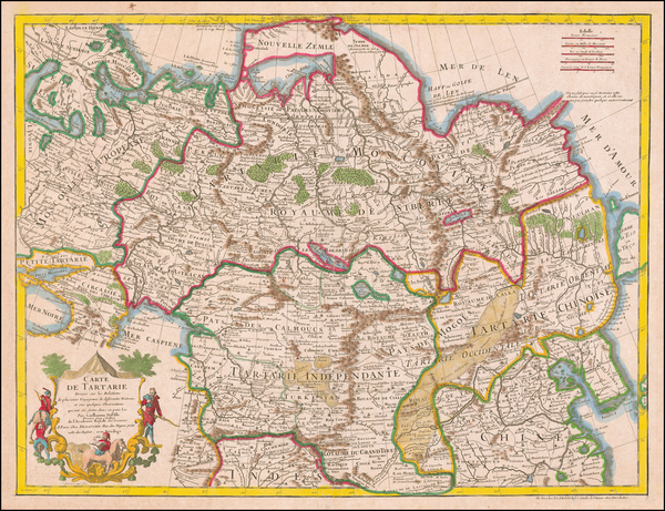 97-China, Central Asia & Caucasus and Russia in Asia Map By Guillaume De L'Isle / Jean-Claude