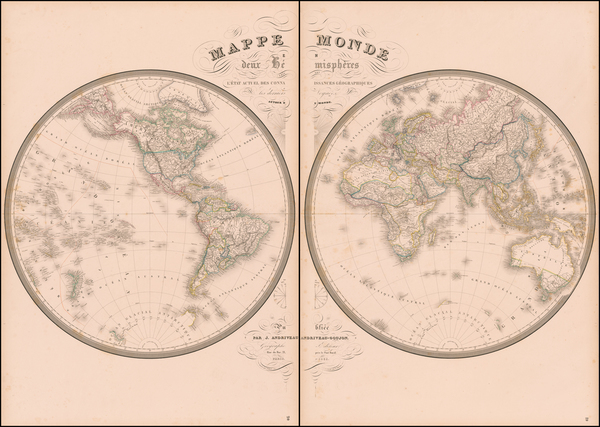 4-World and World Map By J. Andriveau-Goujon