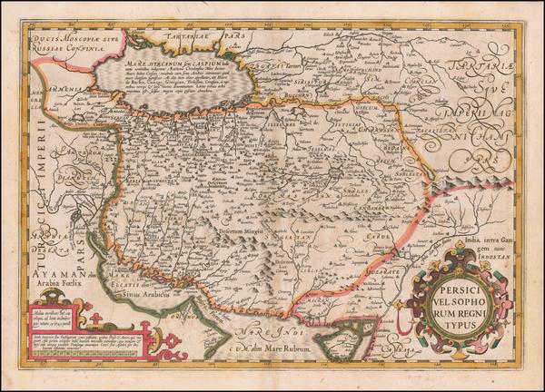 83-Persia Map By Jodocus Hondius