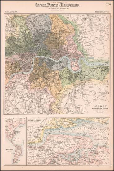 37-London Map By Archibald Fullarton & Co.