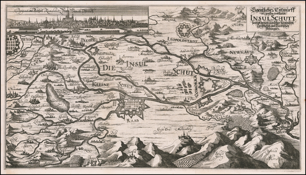 47-Austria and Hungary Map By Eberhard Werner  Happel
