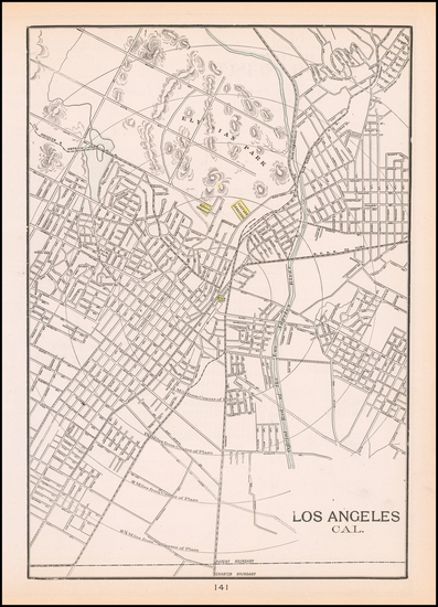 11-Los Angeles Map By George F. Cram