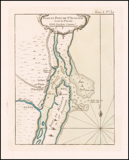 17-Florida Map By Jacques Nicolas Bellin
