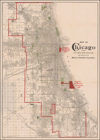 73-Illinois and Chicago Map By Rand McNally & Company