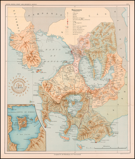 68-Philippines Map By Hoen & Co.