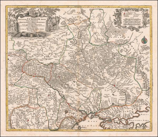 77-Ukraine Map By Matthaus Seutter