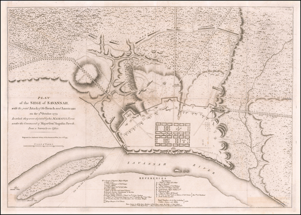 64-Southeast and Georgia Map By Charles Stedman / William Faden