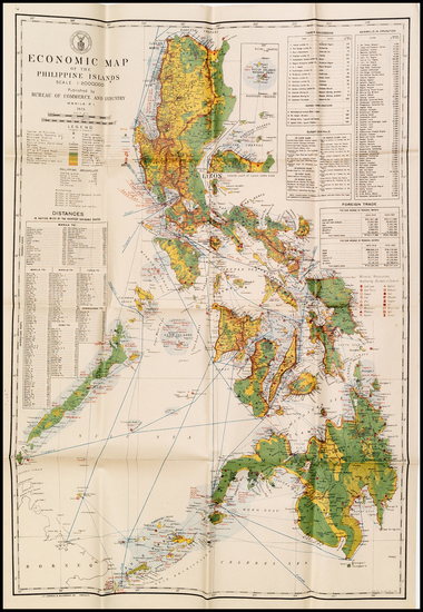 45-Philippines and Rare Books Map By Philippines Dept of Agriculture and Commerce