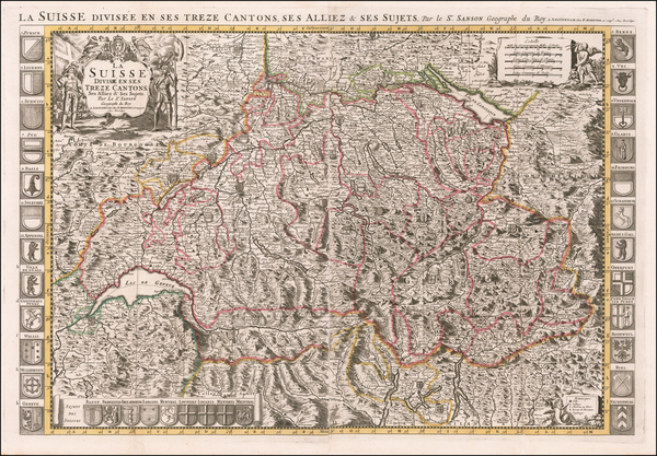 20-Switzerland Map By Alexis-Hubert Jaillot / Pieter Mortier