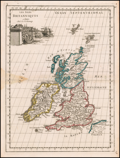 54-British Isles Map By George Louis Le Rouge