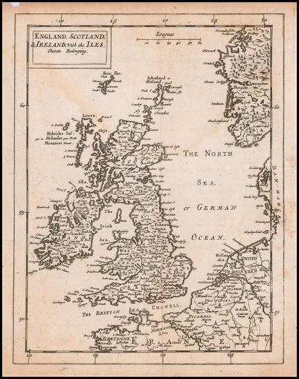 92-British Isles Map By Sir Jonas Moore