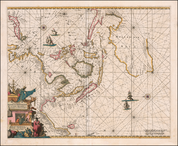 9-Indian Ocean, China, Southeast Asia, Philippines, Indonesia, Pacific and Australia Map By Frede