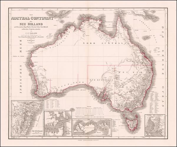 28-Australia Map By Heinrich Kiepert