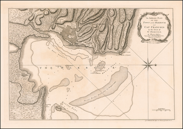 2-Hispaniola Map By Thomas Jefferys