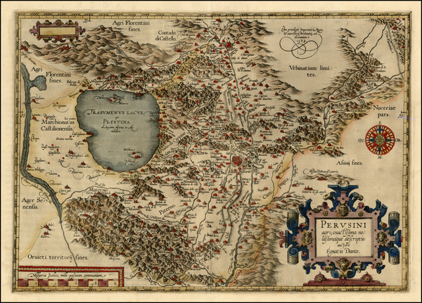 19-Italy Map By Abraham Ortelius