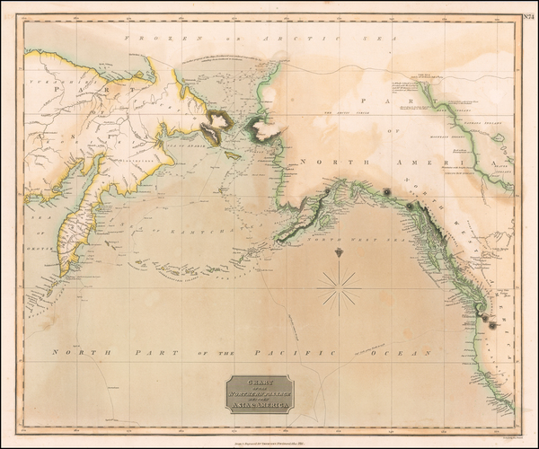 54-Alaska, Pacific and Russia in Asia Map By John Thomson