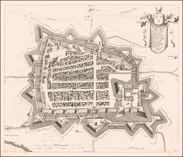 66-Other Italian Cities Map By Johannes et Cornelis Blaeu