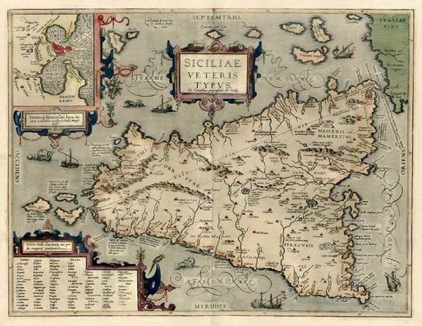 40-Europe, Italy, Mediterranean and Balearic Islands Map By Abraham Ortelius