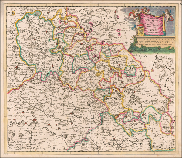 25-Poland and Czech Republic & Slovakia Map By Theodorus I Danckerts