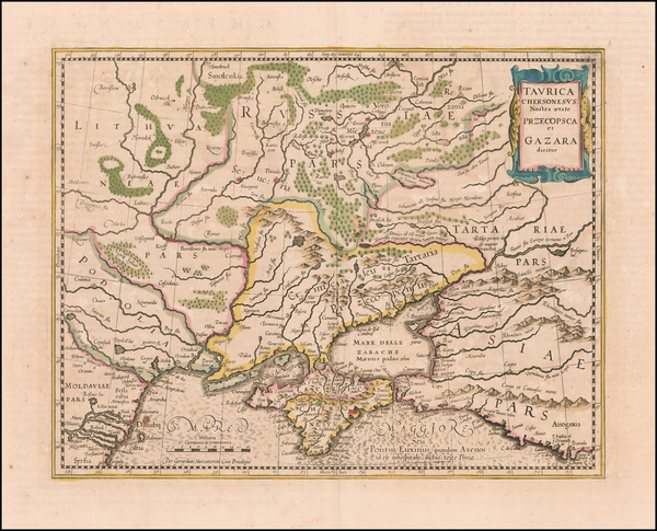 1-Russia and Ukraine Map By Jodocus Hondius - Gerhard Mercator