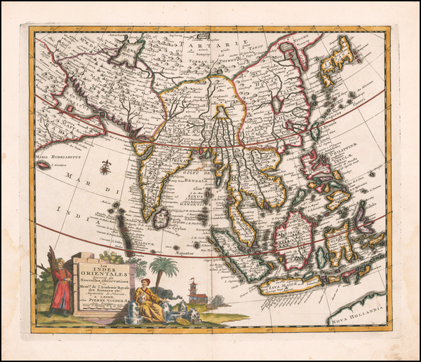 71-India, Southeast Asia, Philippines and Indonesia Map By Pieter van der Aa