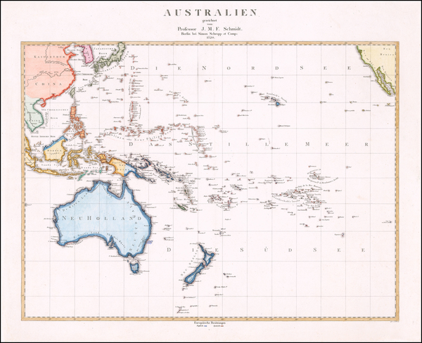 38-Pacific Ocean, Southeast Asia, Philippines, Pacific, Australia and Oceania Map By Simon Schropp