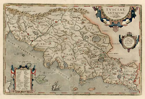 72-Europe and Italy Map By Abraham Ortelius