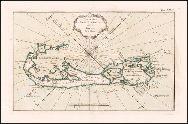 64-Bermuda Map By Jacques Nicolas Bellin