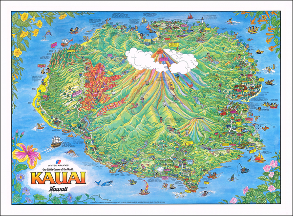 71-Hawaii and Hawaii Map By James Olson