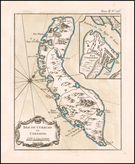 66-Other Islands Map By Jacques Nicolas Bellin