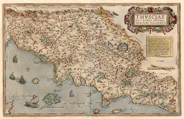 8-Europe and Italy Map By Abraham Ortelius
