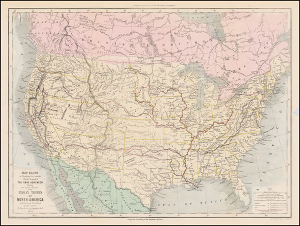 United States Map By Emannuel Henri Dieudonne Domench