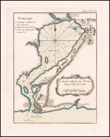 20-Cuba Map By Jacques Nicolas Bellin
