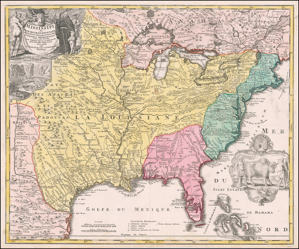14-United States, South, Southeast, Texas, Midwest, Plains and Southwest Map By Johann Baptist Hom