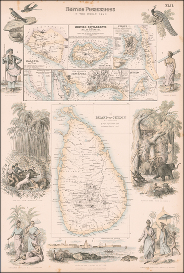 85-India, Southeast Asia, Singapore, Malaysia and Other Islands Map By Archibald Fullarton & C