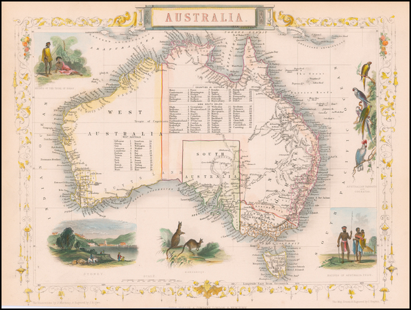 83-Australia Map By John Tallis