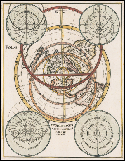 51-World, Northern Hemisphere and California as an Island Map By Heinrich Scherer