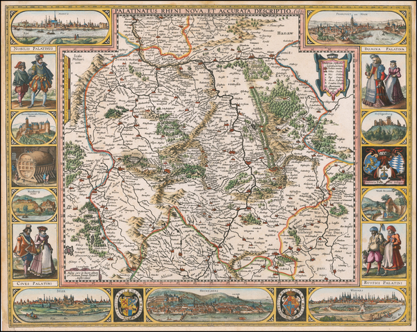 64-Germany Map By Nicolaes Visscher I