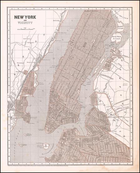 55-New York City Map By Sidney Morse  &  Samuel Breese