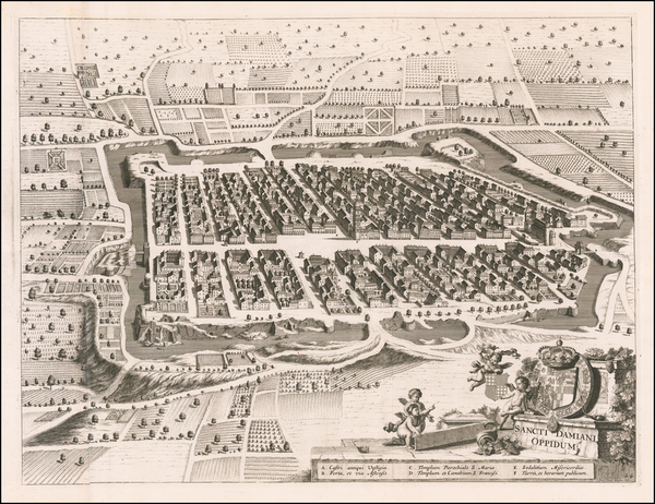 14-Other Italian Cities Map By Johannes et Cornelis Blaeu