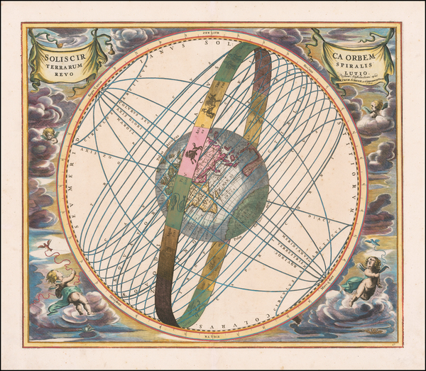 60-Eastern Hemisphere and Celestial Maps Map By Andreas Cellarius